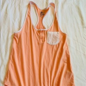 Light Orange and White Tank Top